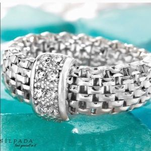 Silpada .925 Sterling Silver Italia Stretch Ring